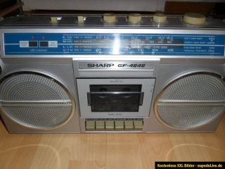 SHARP GF 4646 Stereo Radiorecorder Ghettoblaster Boombox Rarität
