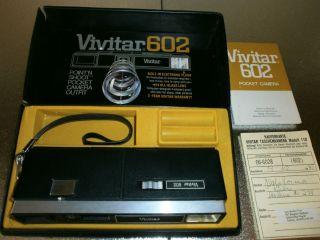 VIVITAR 602 POCKET KAMERA CAMERA Modell 110 OVP Lederschatulle