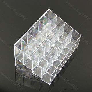 Clear Trapezoid Lipstick Makeup Display Holder Case Cosmetic Organizer