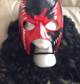 WWE KANE REPLICA CHILD & ADULT NEW MASK WIG HAIR FANCY DRESS UP