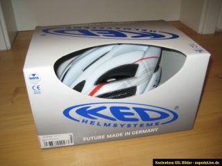 KED Champion Visor M White Red 52 57cm NEU & OVP Hochwertiger