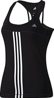 Adidas Gr 38 Climacool Q3 ST Tank T Shirt Fitnesstop Laufshirt schwarz