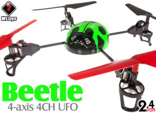 WLToys V929 Beetle 4CH 2.4Ghz 4 axis UFO 3D Tumbling RC Helicopter BNF