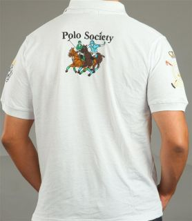 Golden Crown DUBAI Polo Shirt Gr. L XL XXL 3XL 4XL 5XL weiss Hemd