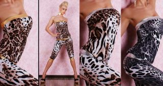 SeXy GoGo CaPri OVERALL JUMPSUIT CATSUIT ParTy LeO Fasching Karneval