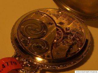 Taschenuhr ELGIN USA 10 k Weißgold filled 4779