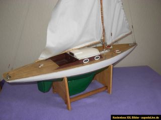 Altes Modell Yacht Segelyacht Yacht Segelboot Segelschiff Modell Deko