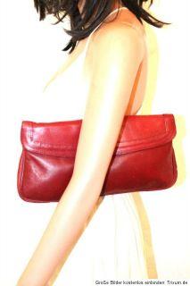 Vintage Leder Tasche Clutch bordeaux rot Madame Moouse Vintage