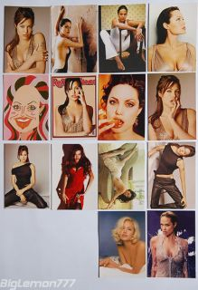 ANGELINA JOLIE SEXY SET OF 14 POSTCARD