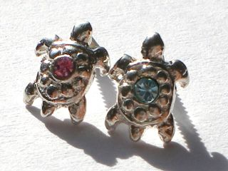 925 Silber Nail Art Piercing Nagelpiercing Schildkröte VERSCHIEDENE