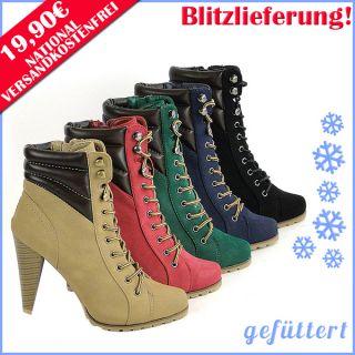 Schnürer High Heel Damen Stiefelette 94563 Schuhe 36 41