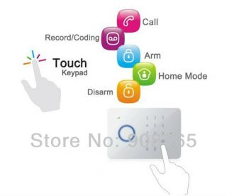 Chuango G5 Touch Keypad GSM SMS Home Security Burglar Alarm System