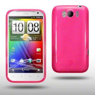 TPU GEL CASE / BACK COVER FOR HTC SENSATION XL   HOT PINK