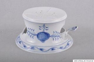 Meissen Zwiebelmuster Stövchen mit Teelichthalter, 1.Wahl