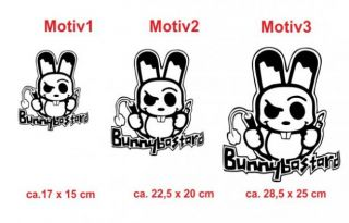 E217 Bunny Hase Notebook Laptop Aufkleber Sticker Notebookaufkleber