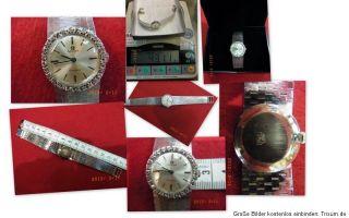 Omega 750er Weiß  Gold Brillant  Damenuhr 2750,  Die Uhr läuft