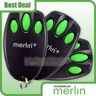 C945 Merlin Garage Door Gate Remote Control Handset x3