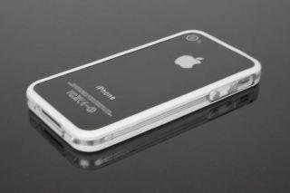 Original iGard iPhone 4/4S White Line Design Bumper Case Schutzhülle