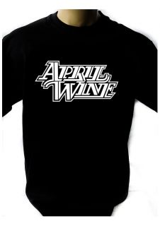 APRIL WINE LOGO BLACK NEW T SHIRT FRUIT OF THE LOOM print by DTG