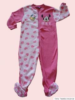 Primark DISNEY Minnie Mouse Kinder Schlafanzug Overall Strampler 2 3