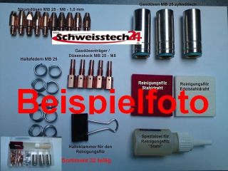 MIG / MAG Brenner Abicor Binzel Schweißbrenner MB25 Grip 5m, komp