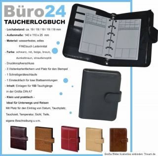 A7 TAUCHERLOGBUCH   Logbuch für Taucher, Taucherstempel   6 Farben
