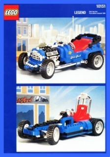 LEGO BAUANLEITUNG 10151 Legends Hot Rod Model Team 950