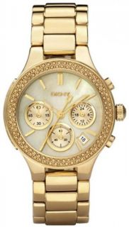 DKNY Donna Karan Damenuhr Chronograph vergoldet   NY8058