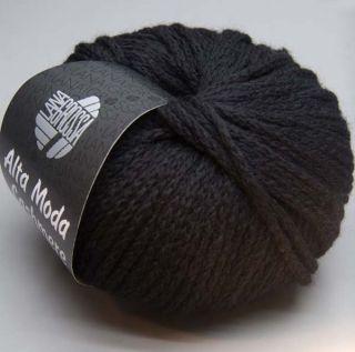 Lana Grossa Alta Moda Cashmere 012 schwarz 50g Wolle