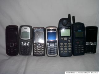 alte;Handys;Handy;Telefon;Tastentelefon;Nokia;Simens;alle noch ok