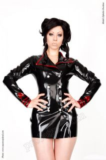 Latex Uniform Jacke Gummijacke Schwarz Original Latexa geklebt Gr.XS