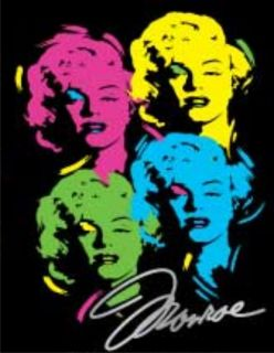 MARILYN MONROE T Shirt Andy Warhol Neon Prints Pop Art Grafitti Icon
