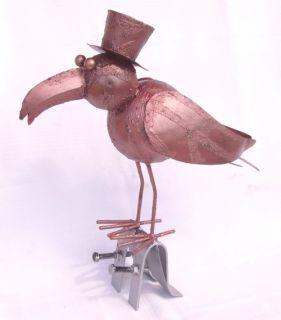Vogel aus Metall Dachschmuck für die Dachrinne 28cm CU