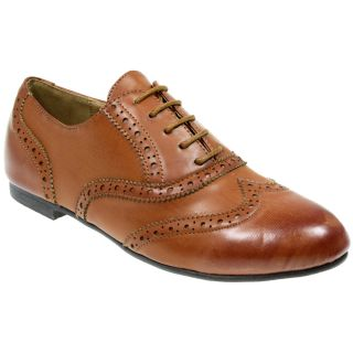 WOMENS LADIES OXFORD BROGUE LACE UP PUMPS SCHOOL OFFICE FLAT CASUAL