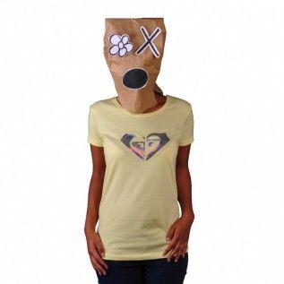 Roxy Club Dub T Shirt light sulphur gelb XGWJE992