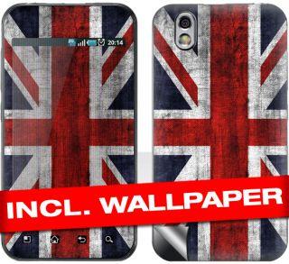 LG P970 Optimus Black Skin  UK FLAG  Aufkleber Cover Design