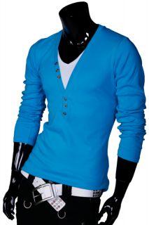 JAPAN STYLE V NECK SHIRT HOODIE Kapuzen Longsleeve Sweatshirt Pullover