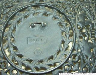 BUDERUS 1731 5001 GUSSEISEN TELLER 27cm FILIGRAN DURCHBRUCHARBEIT GUSS