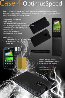 LG Optimus P990 Hülle Case Schutzhülle Cover Tasche + Schutzfolie