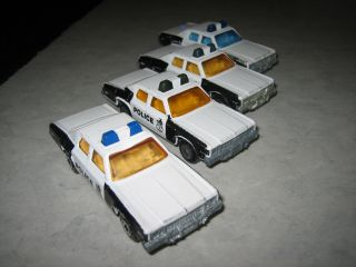 MATCHBOX #10 PLYMOUTH GRAN FURY LESNEY 1979 SUPERFAST POLICE CAR LOT