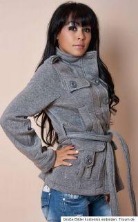Damen Jacke Mantel Kurzmantel Blazer grau S/M 36/38 *NEU*