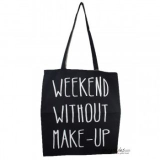 WE MAKE THE CAKE Tasche Weekend without Makeup   Schwarz