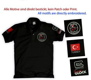Sportschützen Polo Shirt Glock Perfection Team Germany Austria Greece