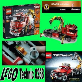 LEGO 8258 TECHNIC CRANE TRUCK WRECKER +GRATIS DURACEL