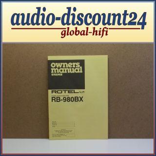 ROTEL RB 980BX * Power Amplifier * BEDIENUNGSANLEITUNG (internL3