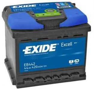 Exide Excell EB440 44Ah Autobatterie (einbaufertig) Fiat Punto