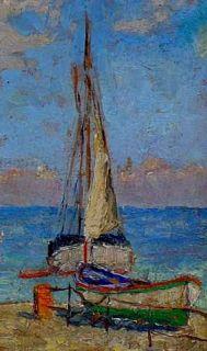 Moderne Kunst Guido Odierna italienischer Maler 1913 1991 verzeichnet