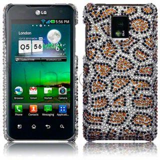 Carcasa tipo diamantes para LG Optimus 2x p990 modelo Leopardo.
