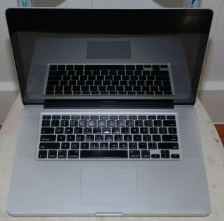Damaged Used Working Apple MacBook Pro 15.4 Laptop   MB986LL/A (June