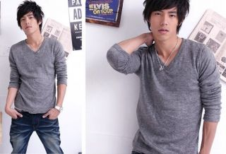 GK5257 New Fashion Korean style mens Long Sleeve Casual T Shirt